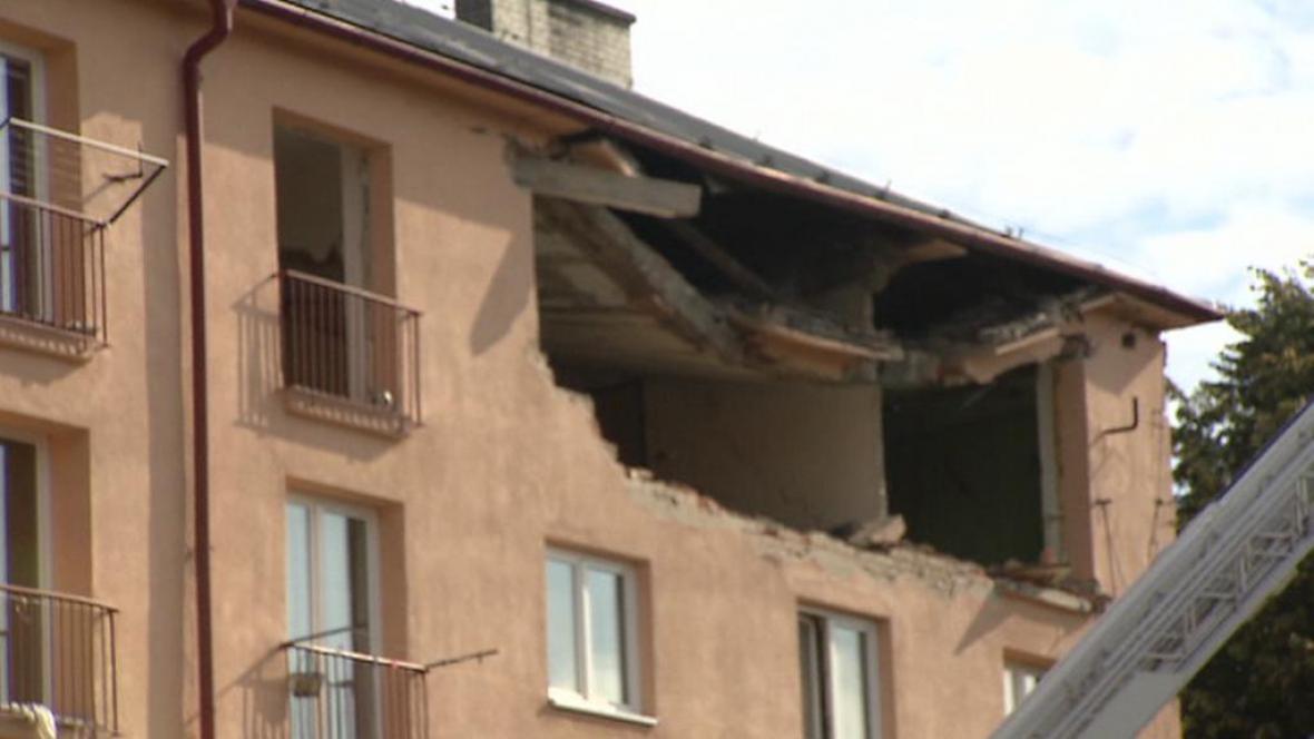 Následky exploze havířovského domu