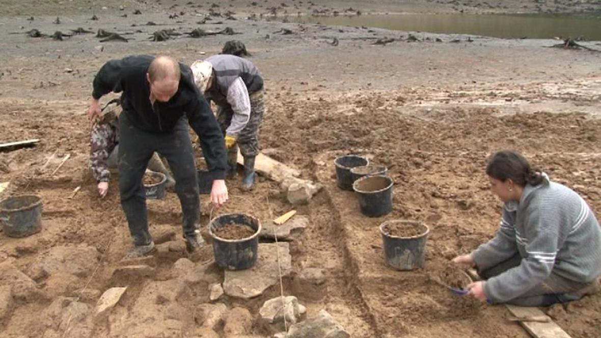 Archeologický výzkum dna Mohelenské přehrady