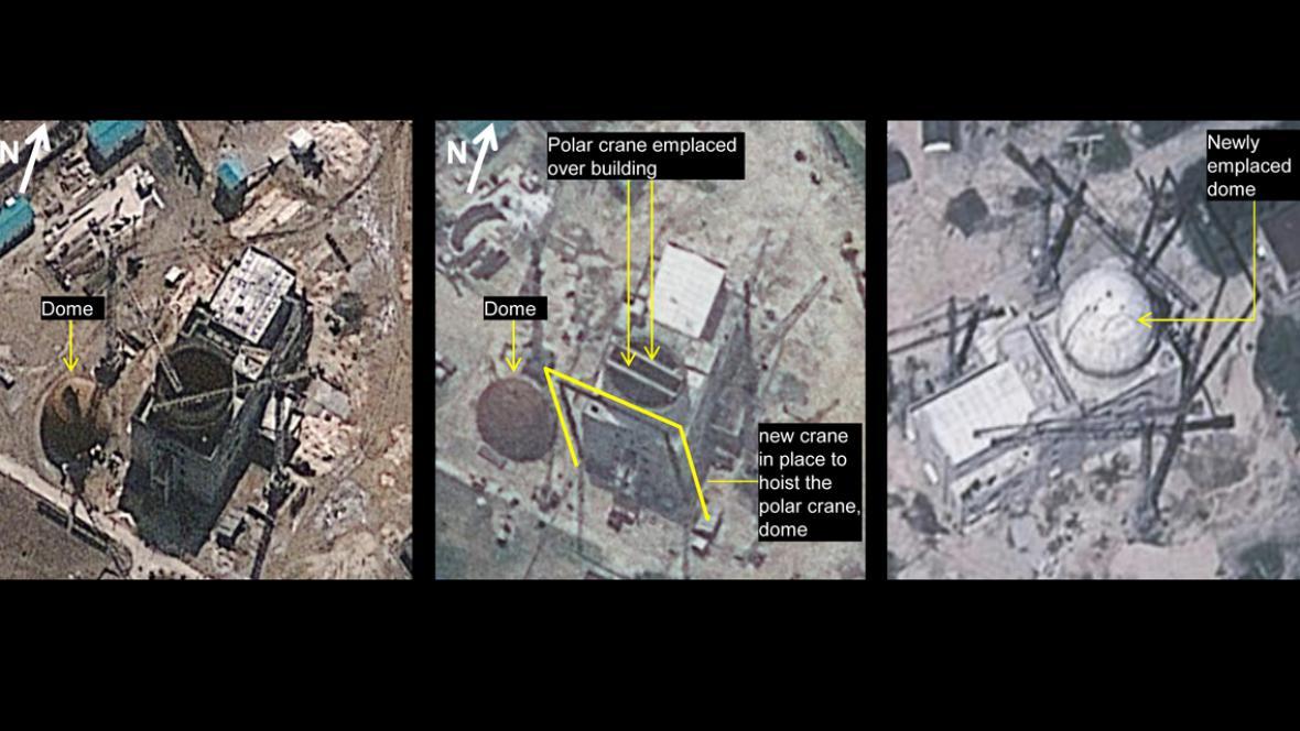 Satelitní snímky Jongbjonu