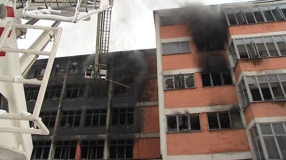Požár ve Zlíně