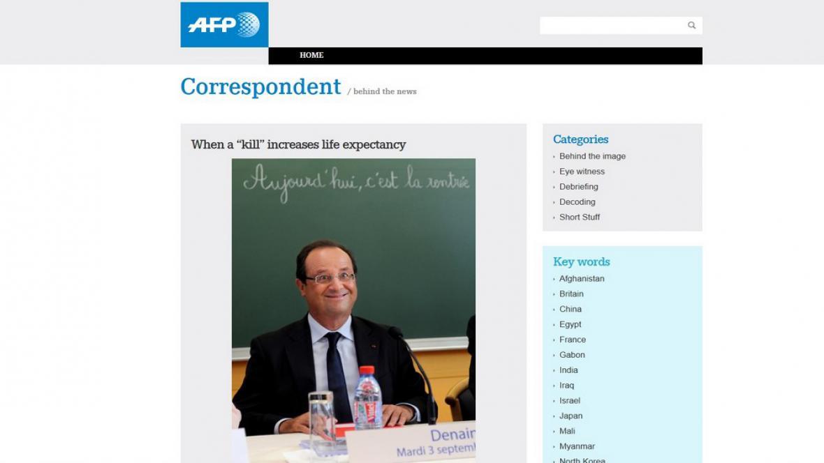 Francoise Hollande na snímku agentury AFP