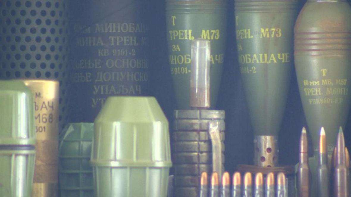 Výstava nalezené munice z Ralska