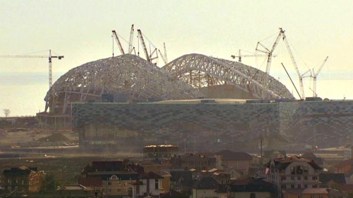 Staveniště olympijského areálu v Soči