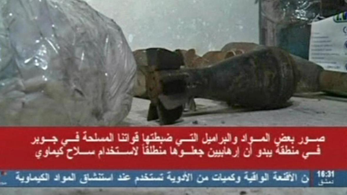 Syrská televize informovala o nálezu chemických látek v tunelech povstalců