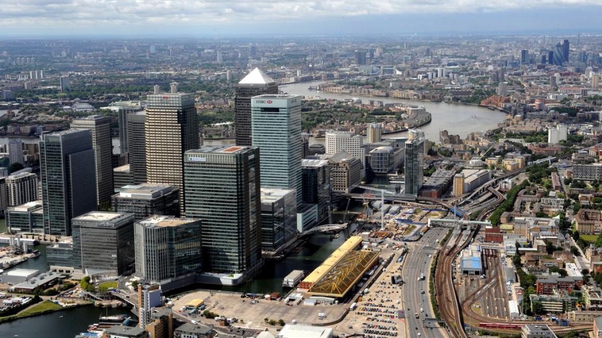 Finanční centrum v Londýně