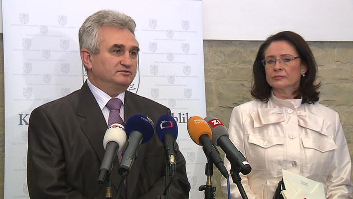 Milan Štěch a Miroslava Němcová