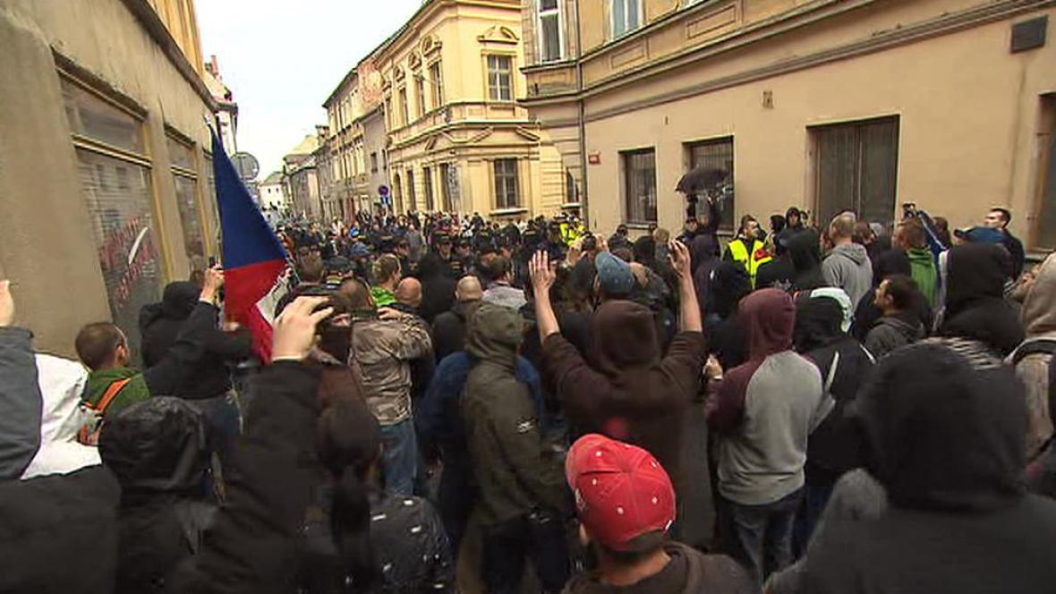 Napětí po demonstraci