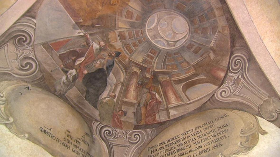 Freska na Sázavském klášteře