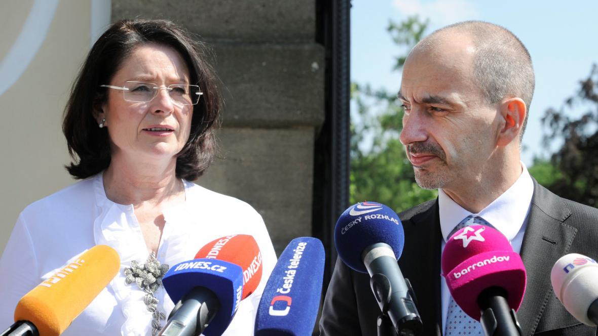 Miroslava Němcová a Martin Kuba