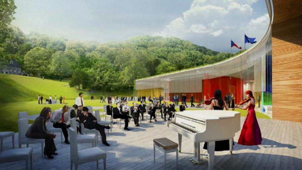 Projekt české ambasády v USA