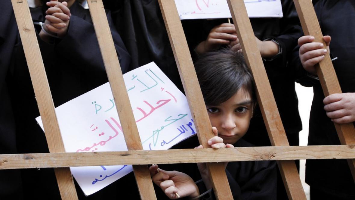 Demonstrace za palestinské vězně