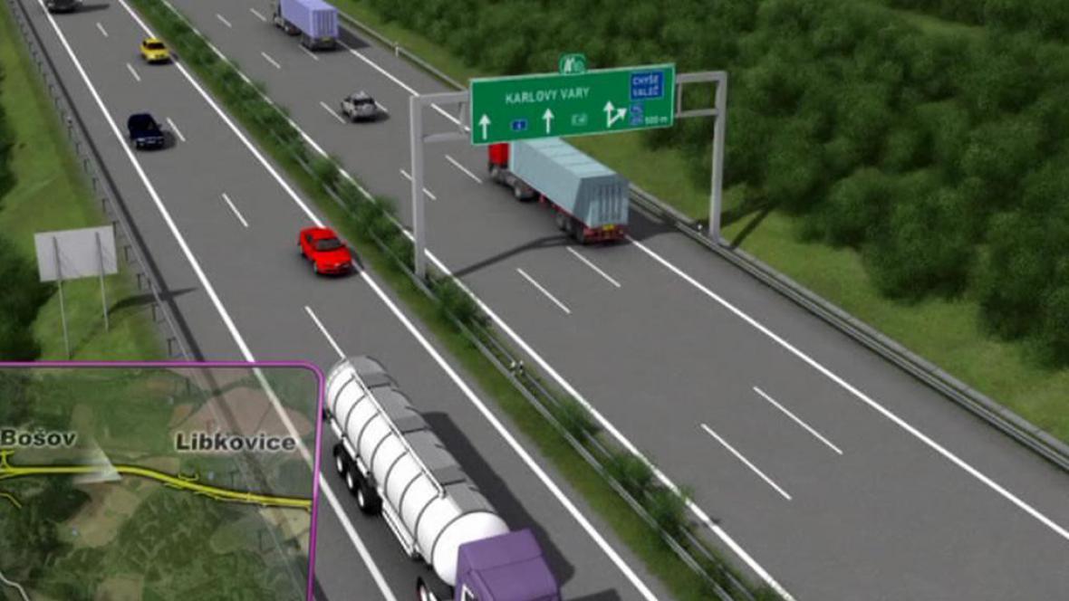 Plánovaný úsek rychlostní silnice R6