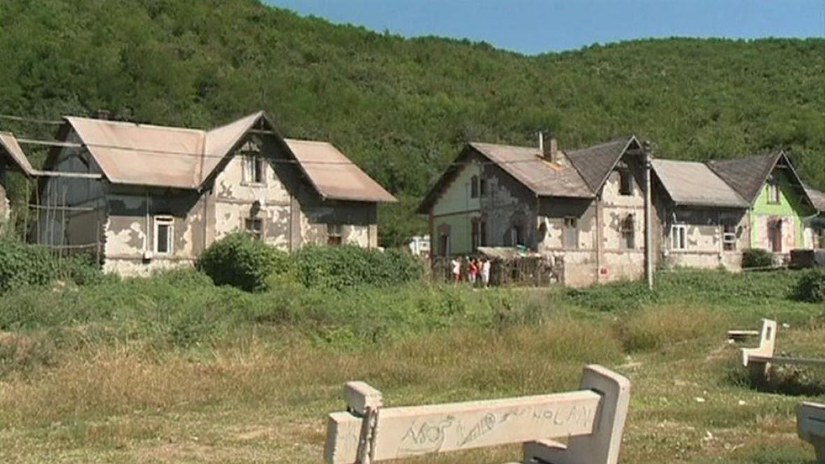 Romská osada v Maďarsku