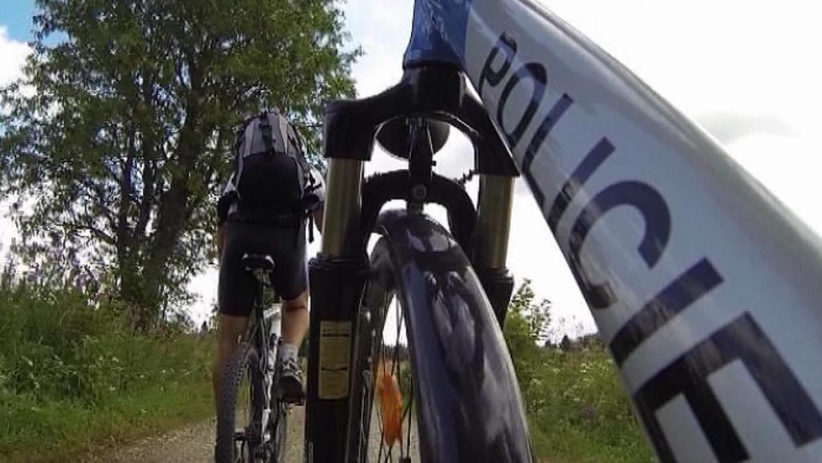 Policejní cyklohlídky na Šumavě
