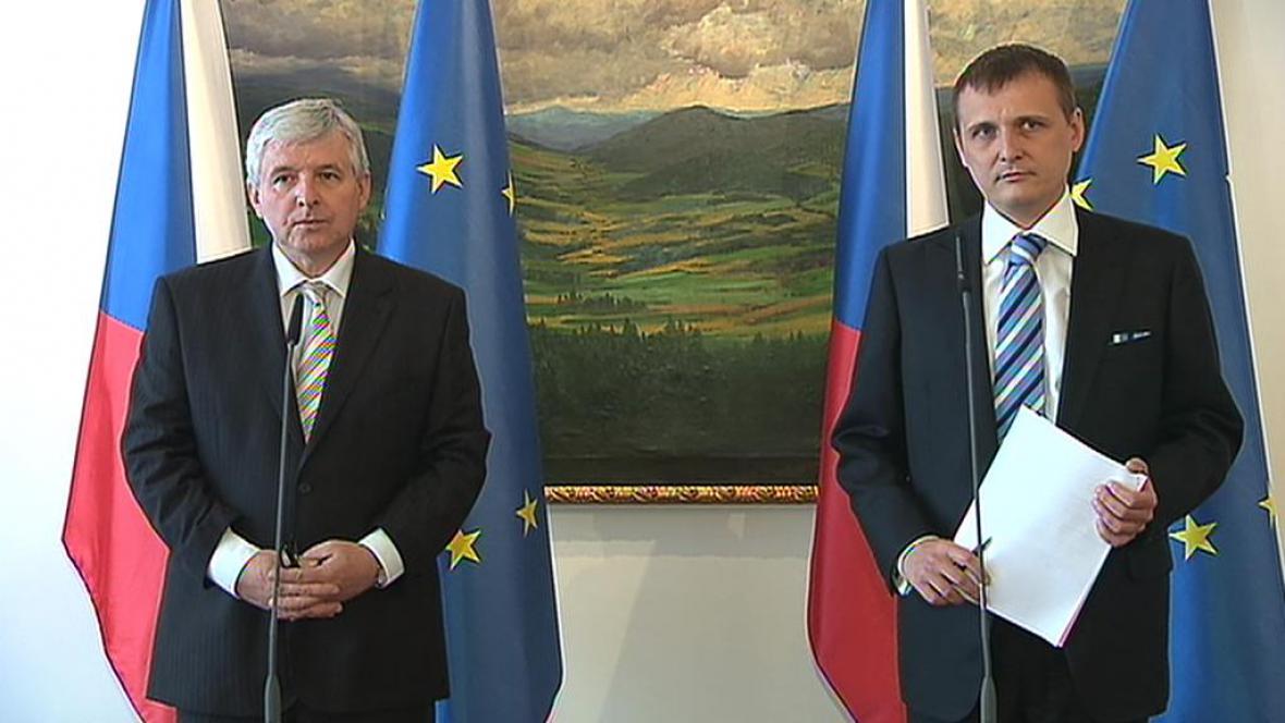 Jiří Rusnok a Vít Bárta