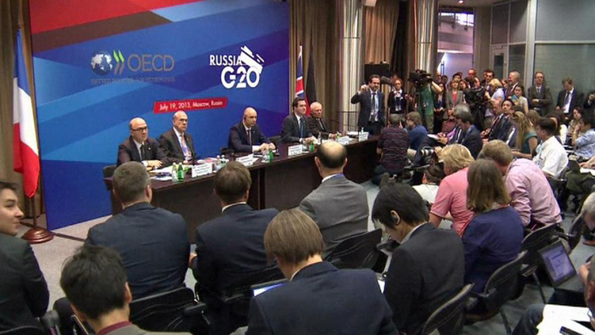 Představitelé skupiny G20 na setkání v Moskvě