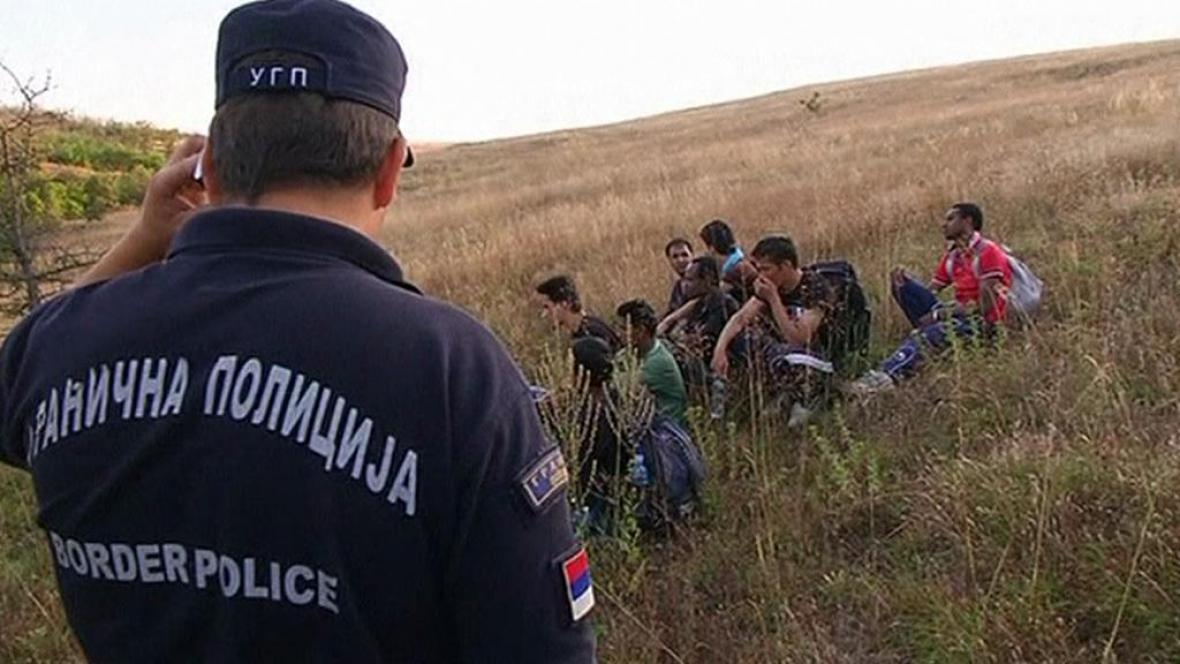 Uprchlíci na srbských hranicích