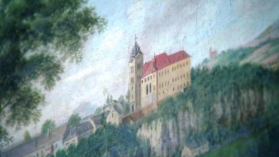 Malba zámku Hrubý Rohozec
