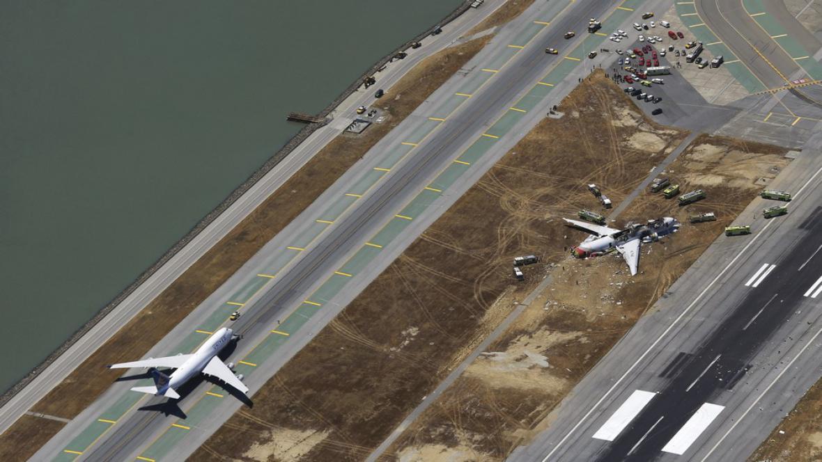 Nehoda letadla v San Francisku
