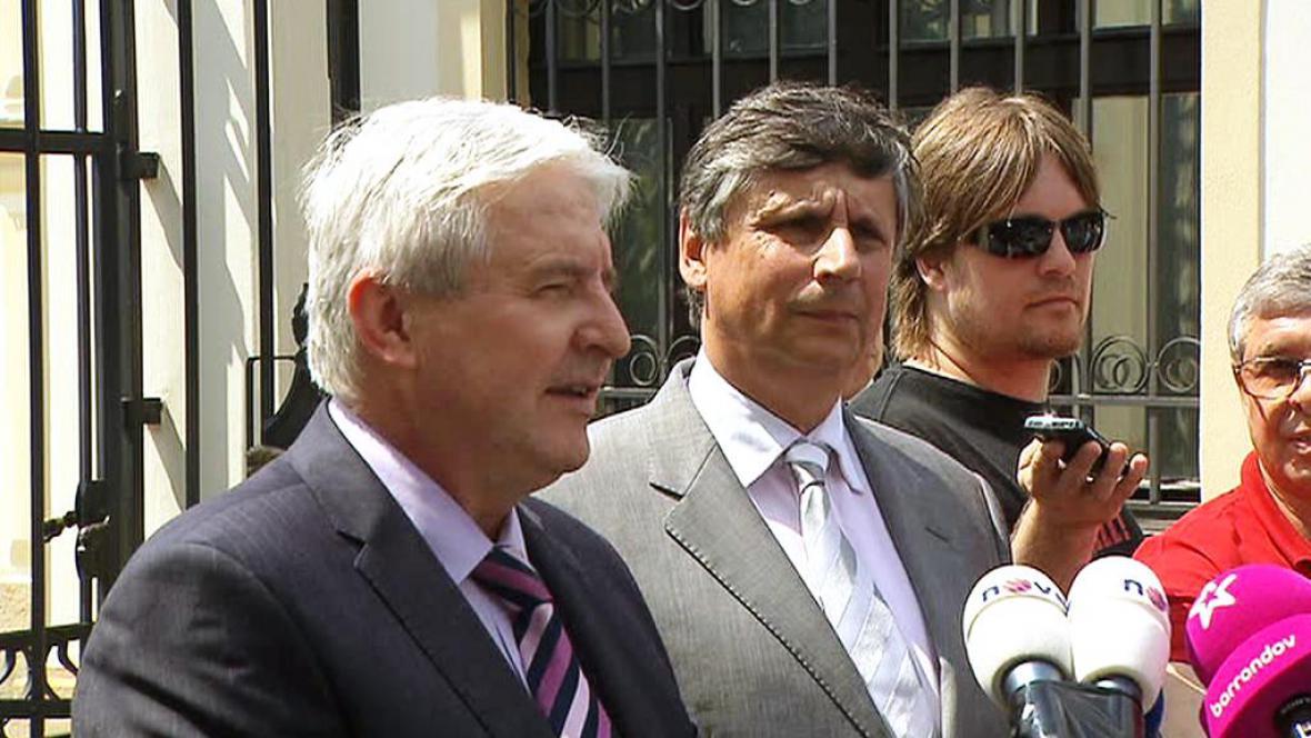 Jiří Rusnok a Jan Fischer