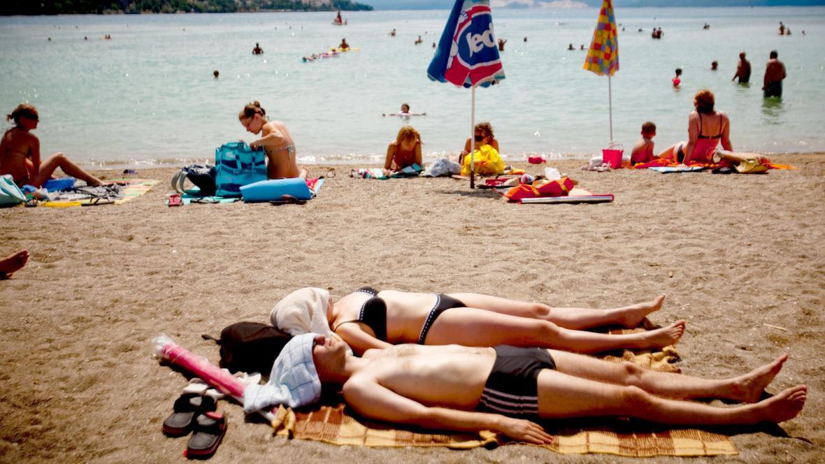 Písečná pláž v Chorvatsku