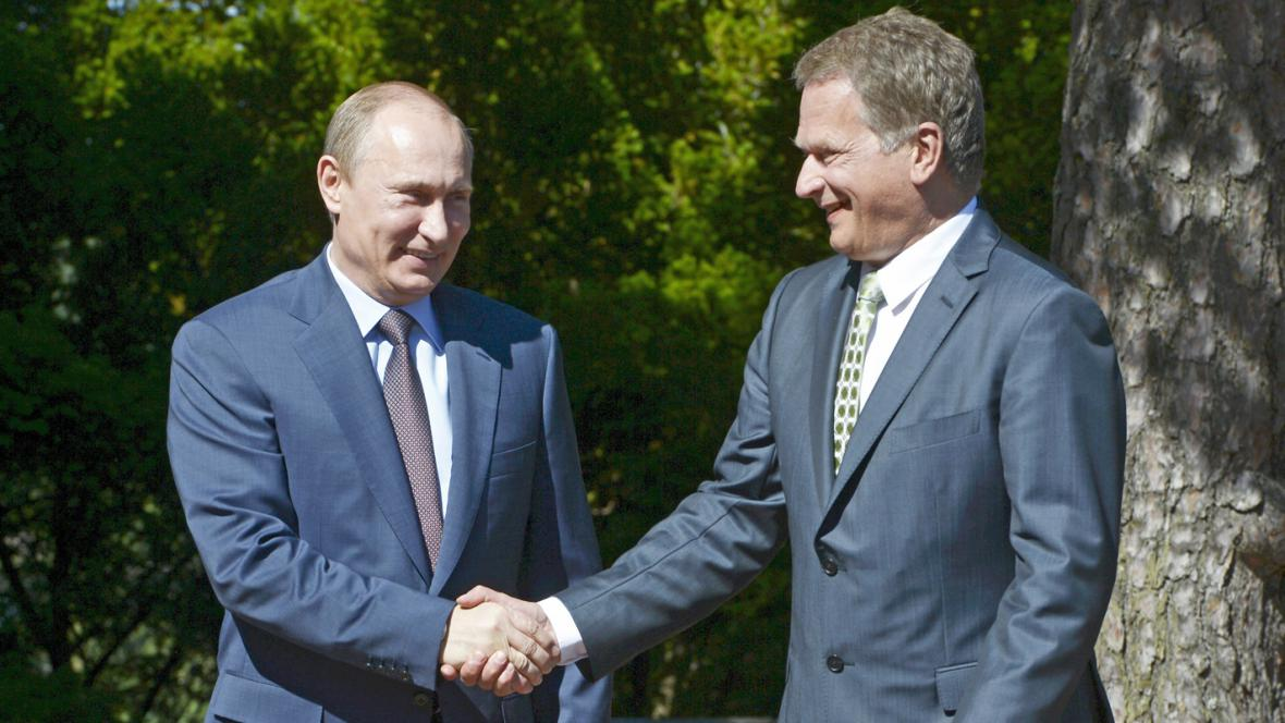 Prezidenti Ruska a Finska Vladimir Putin a Sauli Niinisto