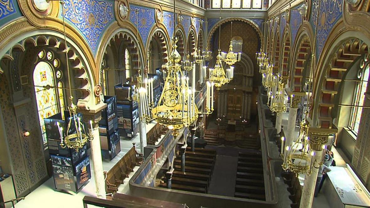 Jeruzalémská synagoga / interiér