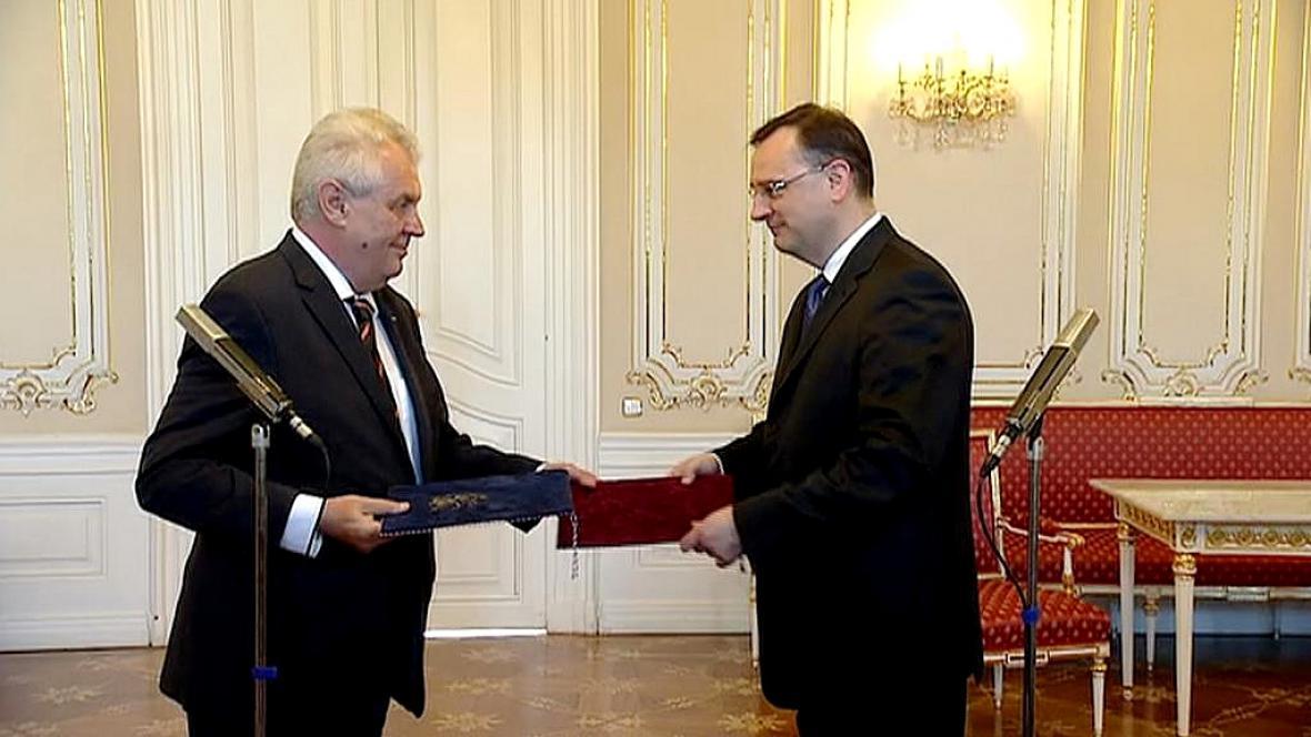 Miloš Zeman a Petr Nečas