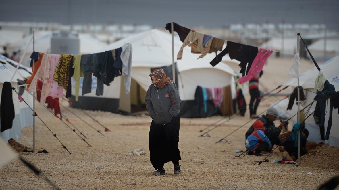 Zima v uprchlickém táboře