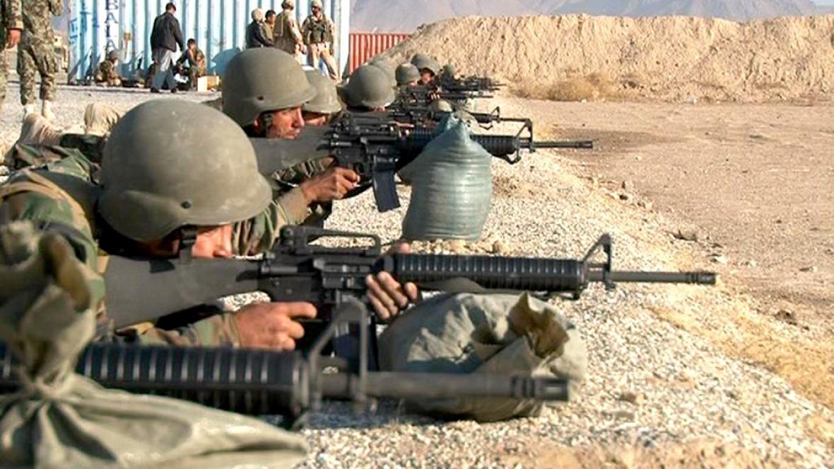 Výcvik afghánských vojáků