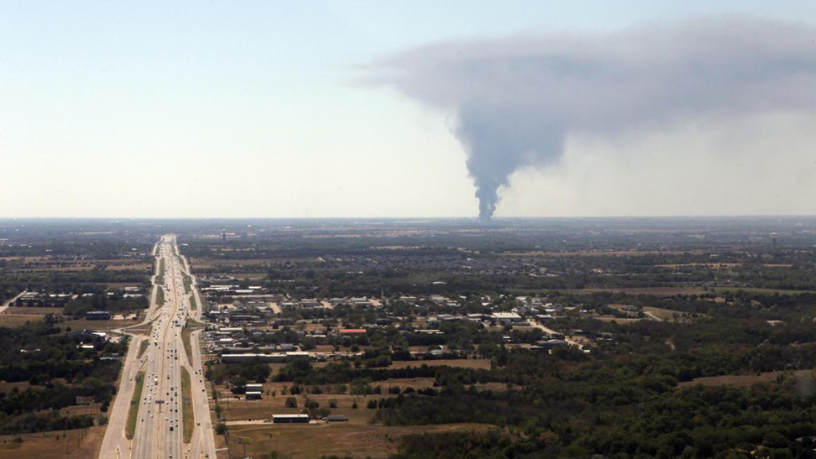 Požár americké chemičky