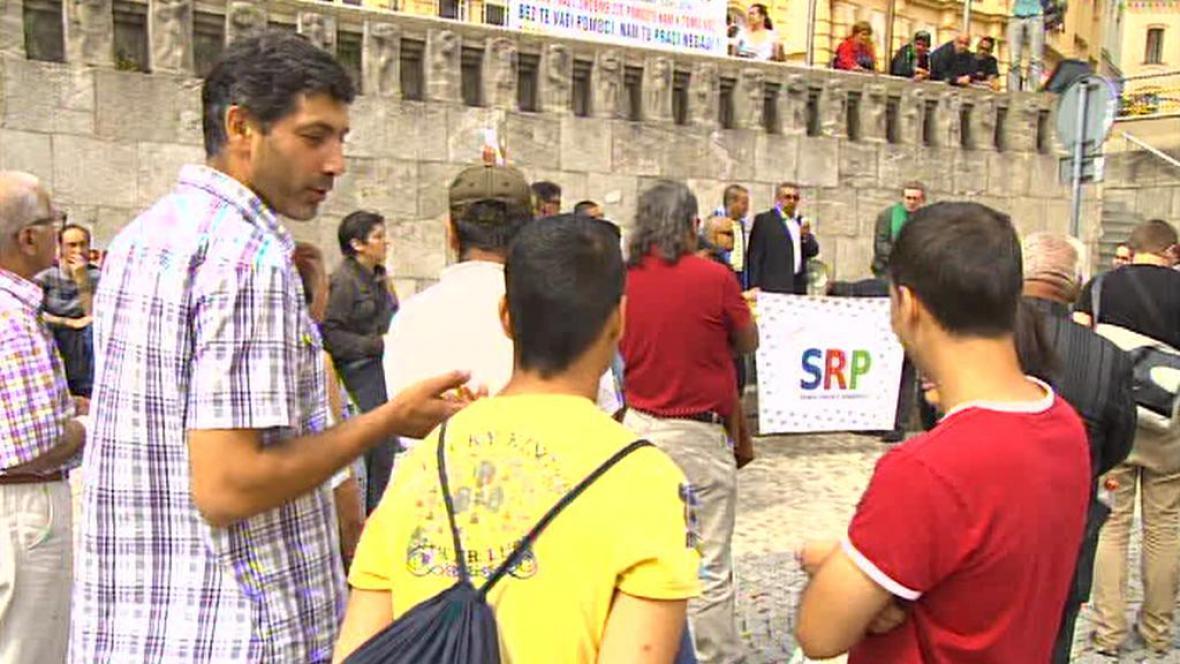 Demonstrace v Teplicích