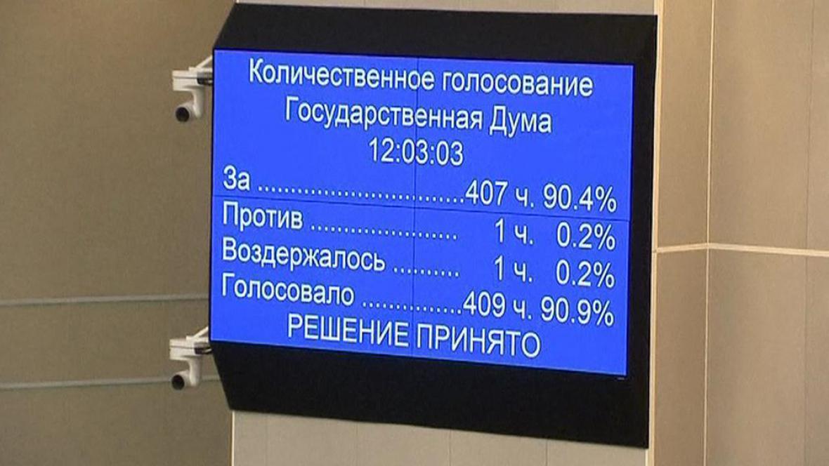 Státní duma schválila zákon proti propagaci homosexuality