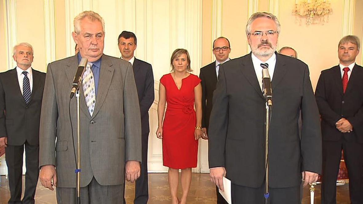 Miloš Zeman a Dan Jiránek