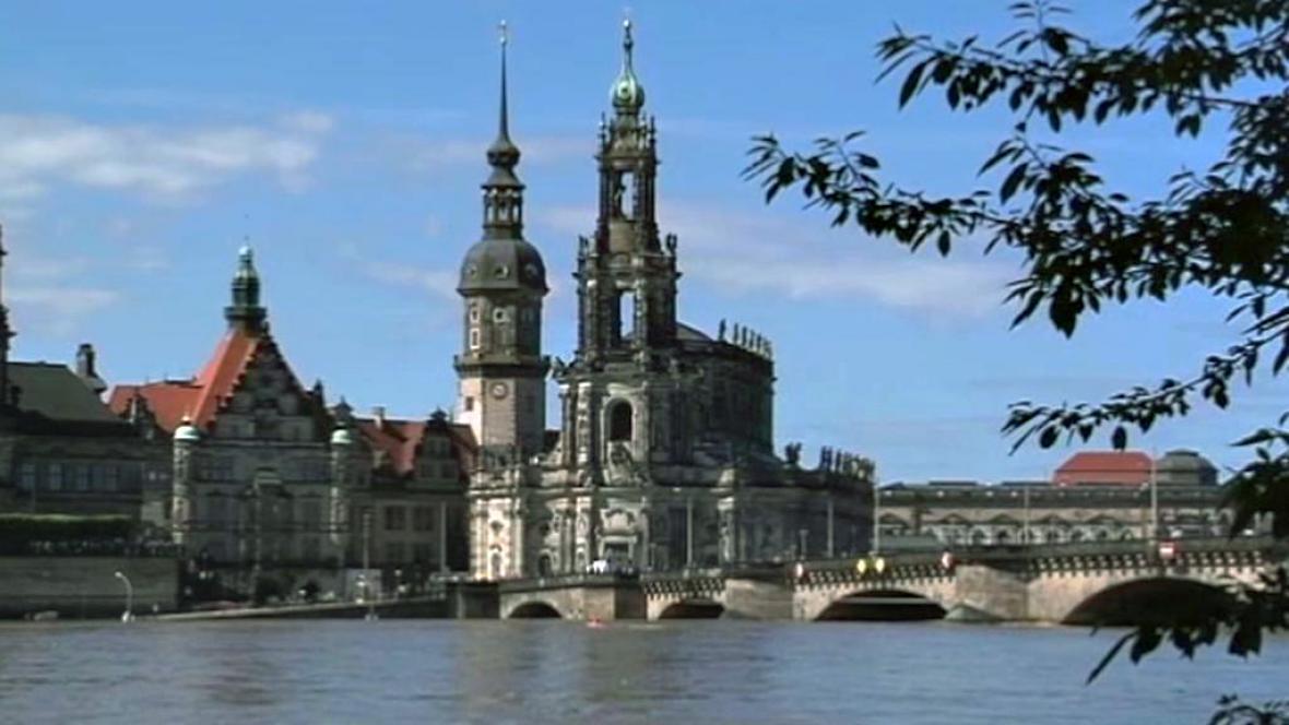 Velká voda v Drážďanech