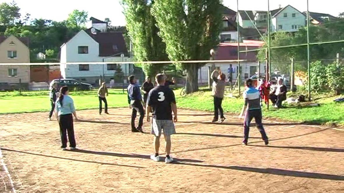 Volejbalový zápas amatérů