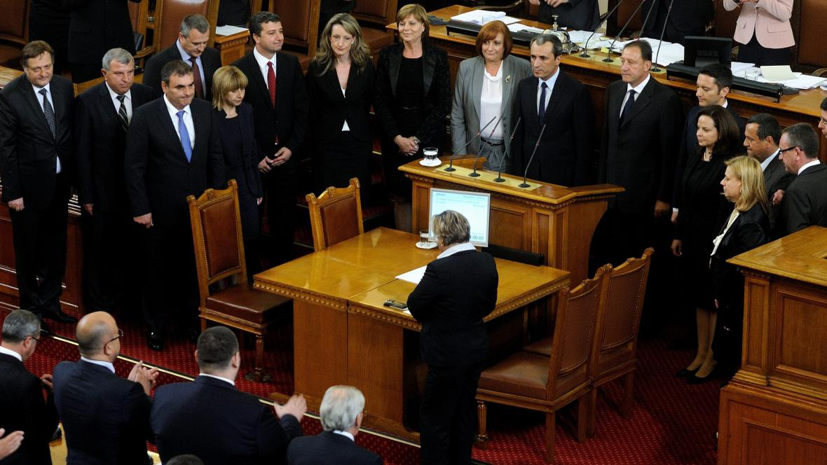 Bulharská vláda v parlamentu