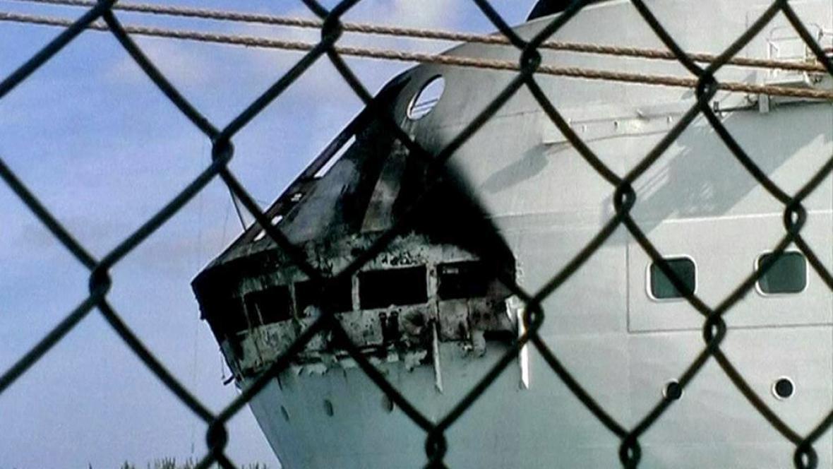 Následky požáru na výletní lodi Grandeur of the Seas