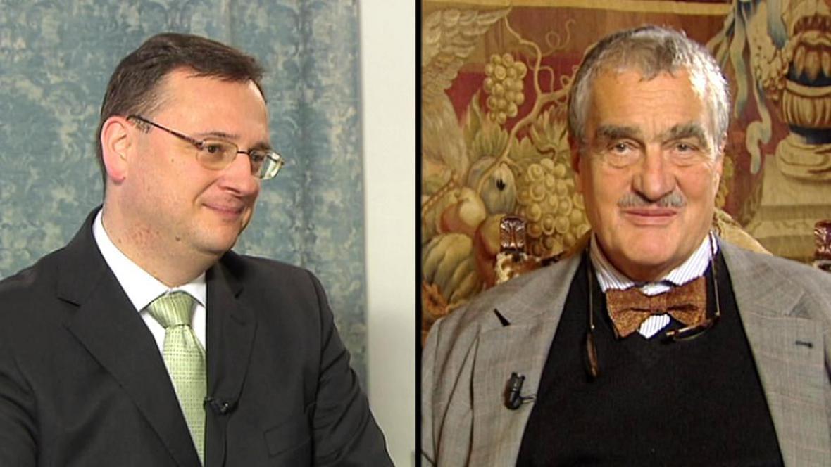 Petr Nečas a Karel Schwarzenberg