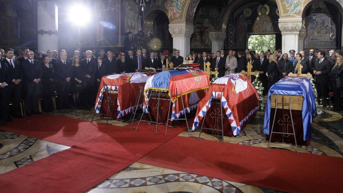 Ostatky členů jugoslávské královské rodiny