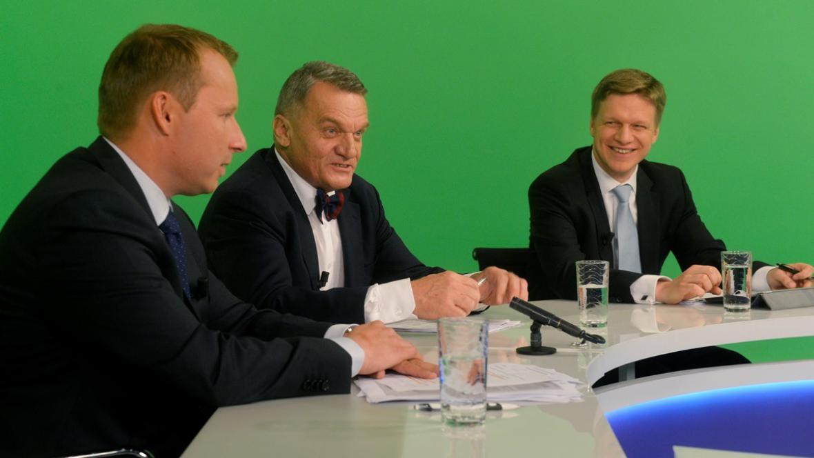 Miroslav Poche, Bohuslav Svoboda a Tomáš Hudeček
