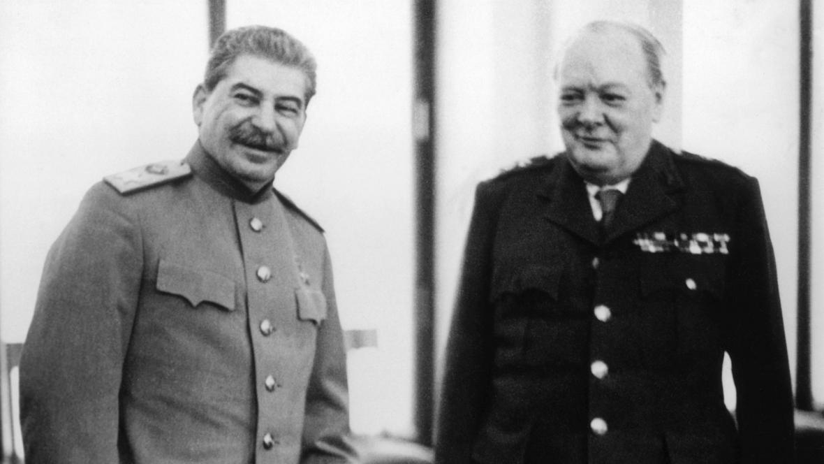 Josif Stalin s Winstonem Churchillem