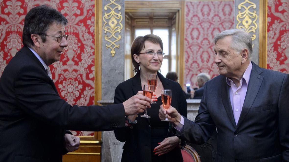 Zleva: Henri Bonnet, Alena Hanáková a Jiří Menzel