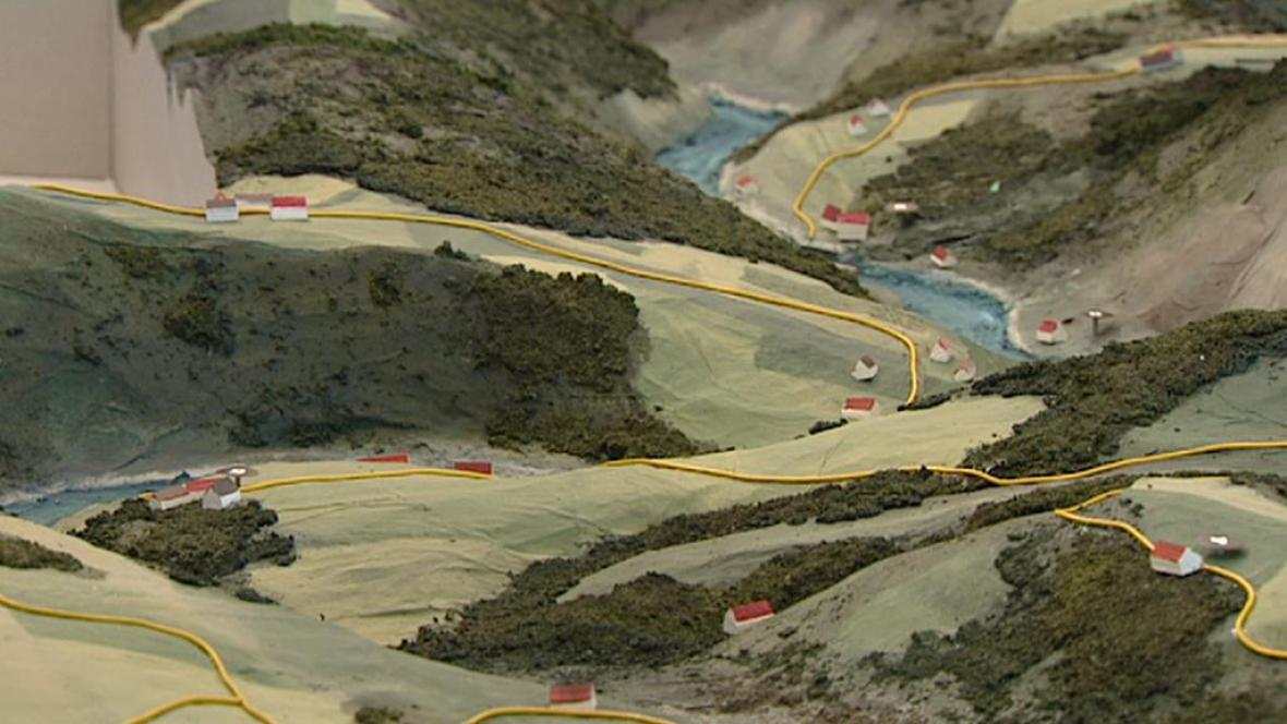 Model zaplaveného údolí Vltavy