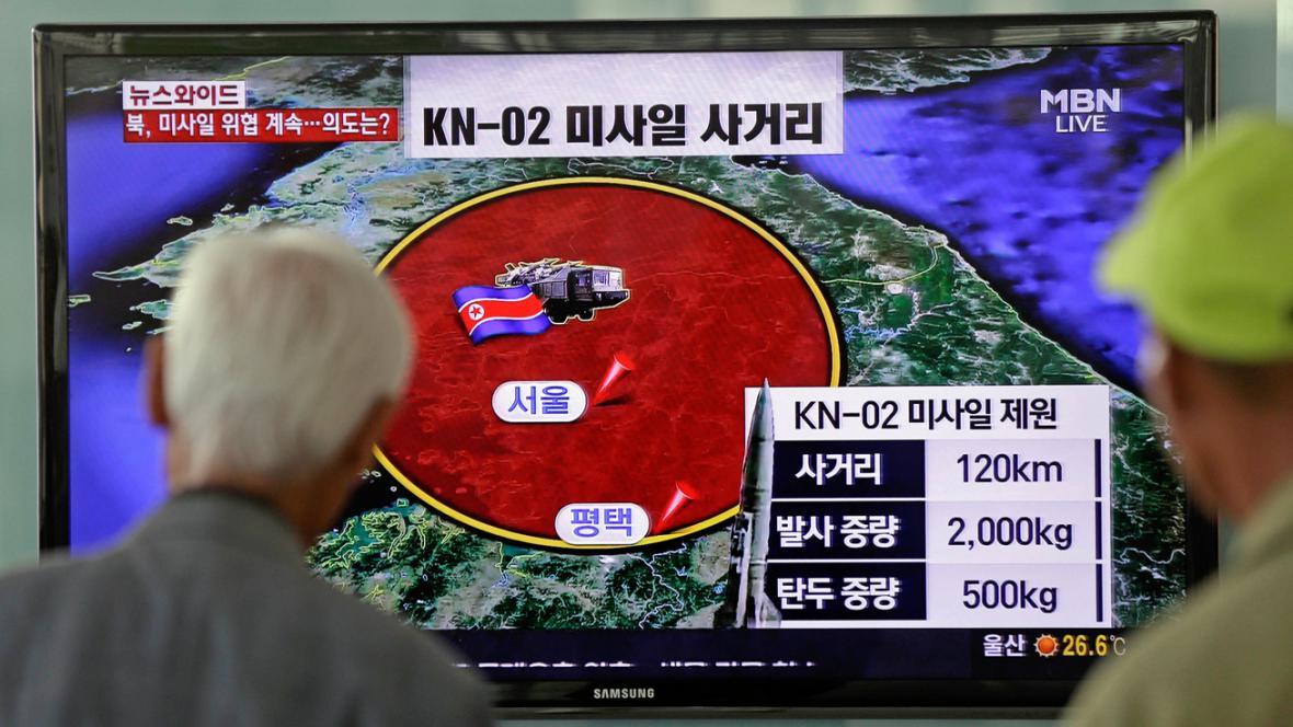 Jihokorejská televize informuje o odpálení severokorejské rakety