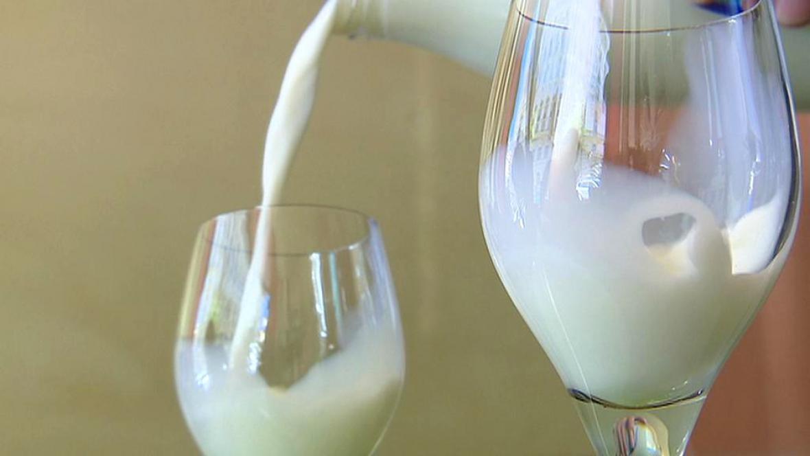 Mléko ve skle