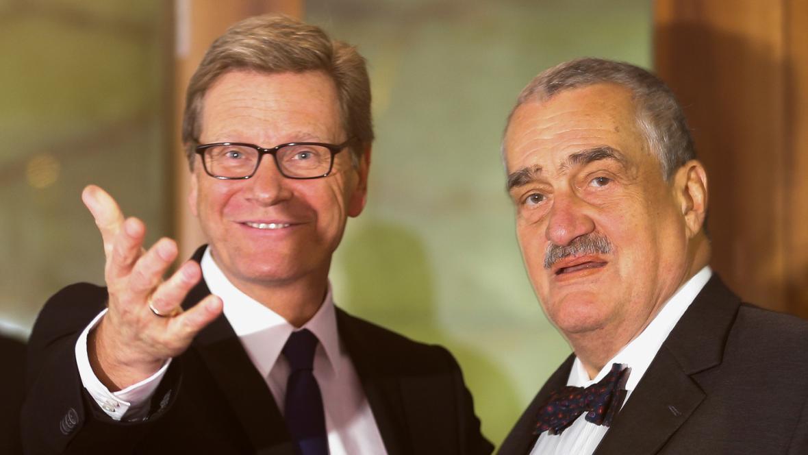 Guido Westerwelle a Karel Schwarzenberg
