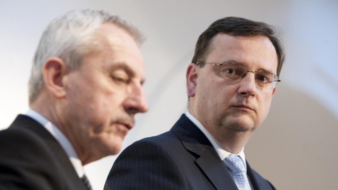 Petr Nečas a Leoš Heger
