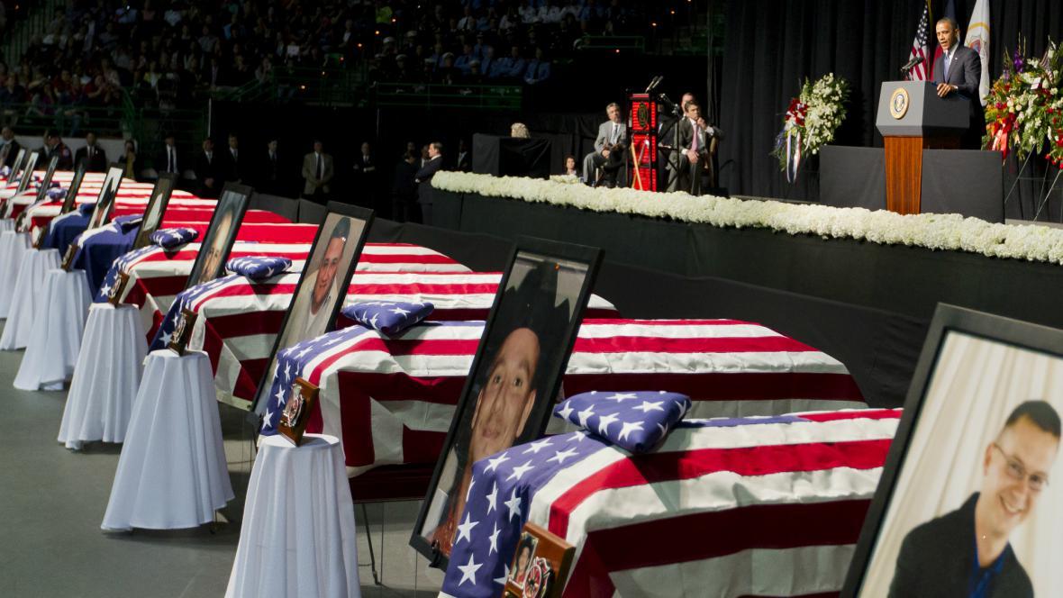 Vzpomínka na oběti výbuchu ve Westu