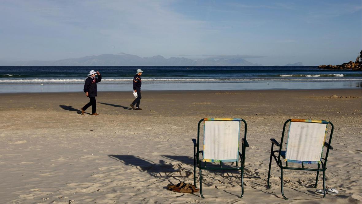 Pláž Fish Hoek - Cape Town